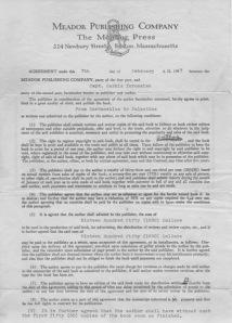 Belge 6: Yayınevi ile yapılan antlaşma ve 5. Madde Hükmü
