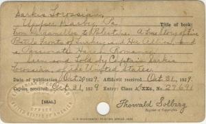 Belge 5: 1929 Library of Congress Teslim Belgesi
