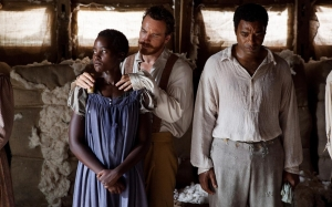 "A scene from ""12 Years a Slave."" From left: Lupita Nyongo, Michael Fassbender and Chiwetel Ejiofor (http://goo.gl/w5cijB)"