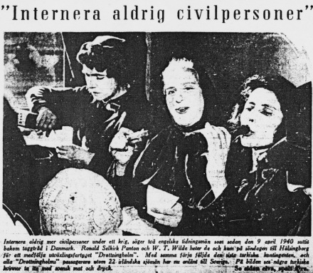 eport in the Swedish press on the arrival of the Turkish Jews liberated from Ravensbrück and Bergen Belsen concentration camp in Gothenburg before their depart for Turkey.