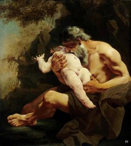 Saturn Devouring His Child  (Giulia Lama  C. 1685-after 1753) http://goo.gl/P2Wio6